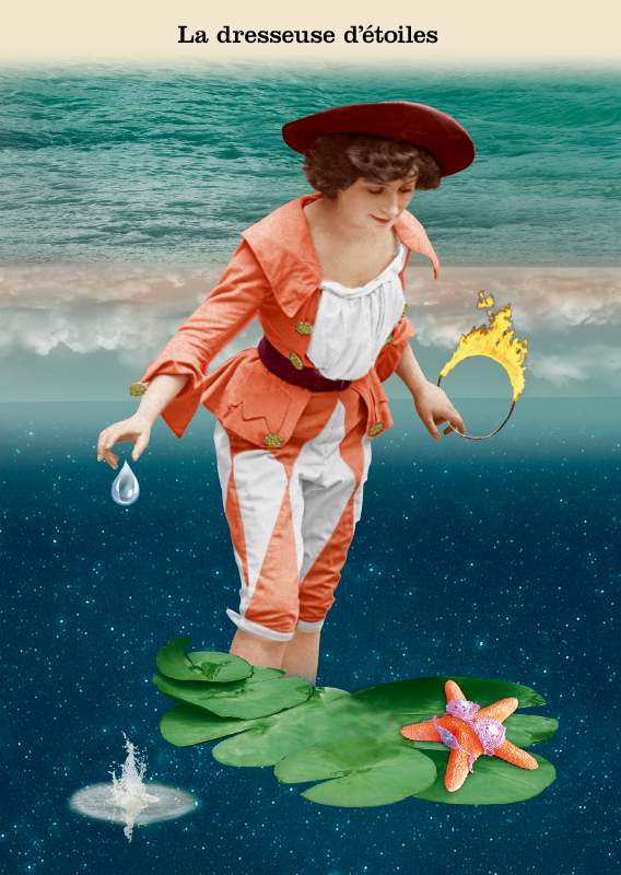 Les belles cartes postales de Bébert Plonk & Replonk – Collection «L'Univers à l'envers» – La dresseuse d'étoiles.