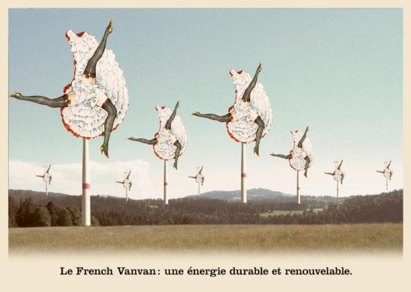 Les belles cartes postales de Bébert Plonk & Replonk – Collection «L'Univers à l'envers» – Le French Vanvan: une énergie durable et renouvelable.