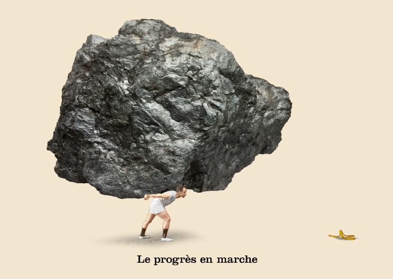 Les belles cartes postales de Bébert Plonk & Replonk – Collection «L'Univers à l'envers» – Le progrès en marche.