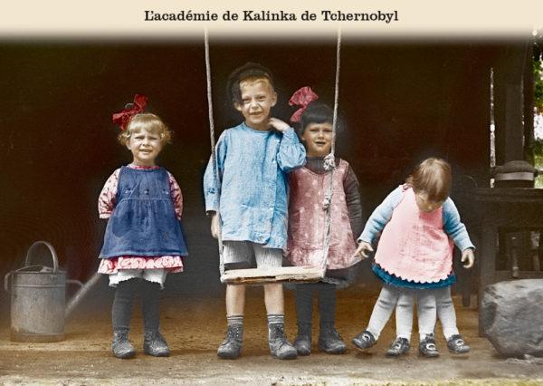 Les belles cartes postales de Bébert Plonk & Replonk – Collection «L'Univers à l'envers» – L'académie de Kalinka de Tchernobyl.