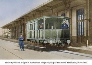 Wagon à sustention magnétique