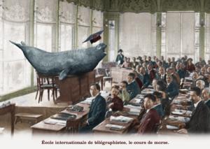 Ecole internationale de télégraphistes, le cours de morse