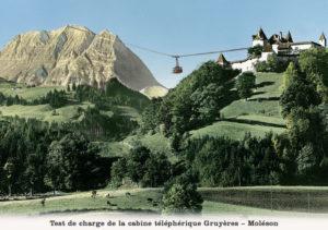 Test de charge de la cabine téléphérique Gruyères-Moléson