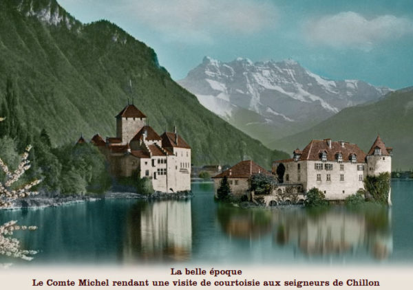 Le Comte Michel rendant une visite de courtoisie aux seigneurs de Chillon