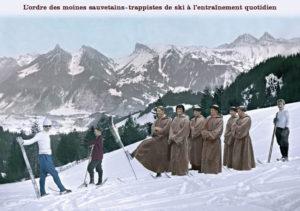 L'ordre des moines sauvetains-trappistes de ski à l'entraînement quotidien