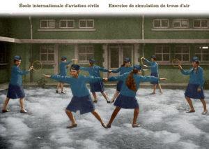 Ecole internationale d'aviation civile. Exercice de simulation de trous d'air