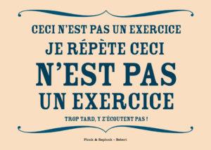 Ceci n'est pas un exercice. Les belles cartes postales de Bébert Plonk & Replonk – Collection Covid-19