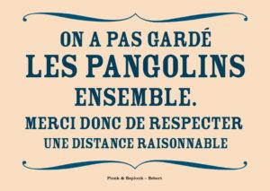 On a pas gardé les Pangolins ensemble. Les belles cartes postales de Bébert Plonk & Replonk – Collection Covid-19