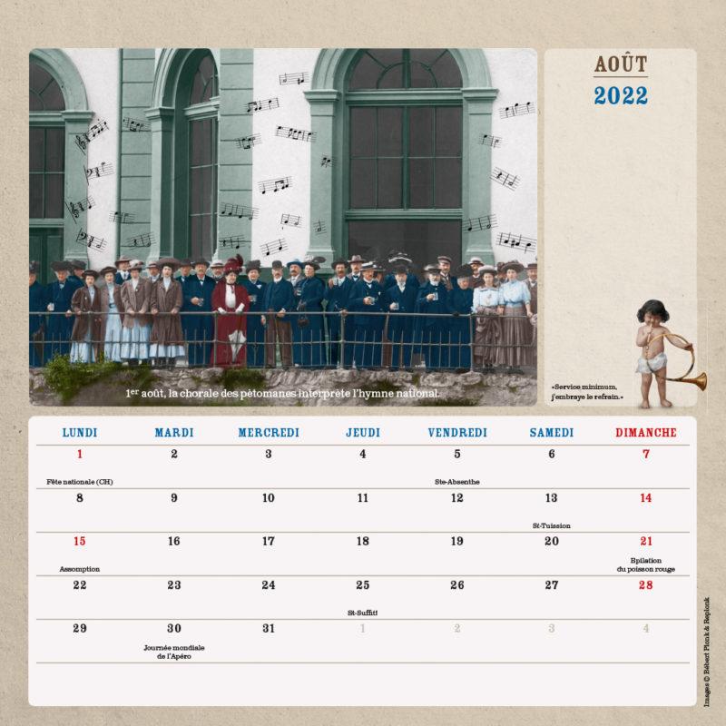 Le calendrier 2022 de Bébert Plonk & Replonk